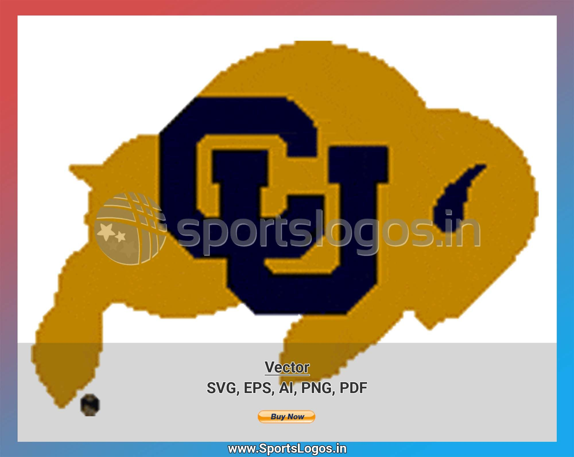 Colorado Buffaloes College Sports Vector Svg Logo In 5 Formats Spln000975 Sports Logos Embroidery Vector For Nfl Nba Nhl Mlb Milb And More Sports Logo Embroidery Logo College Sports