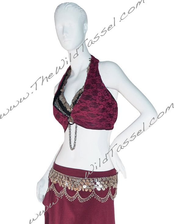 ON SALE Tribal Fusion Halter Top: Belly Dance by TheWildTassel