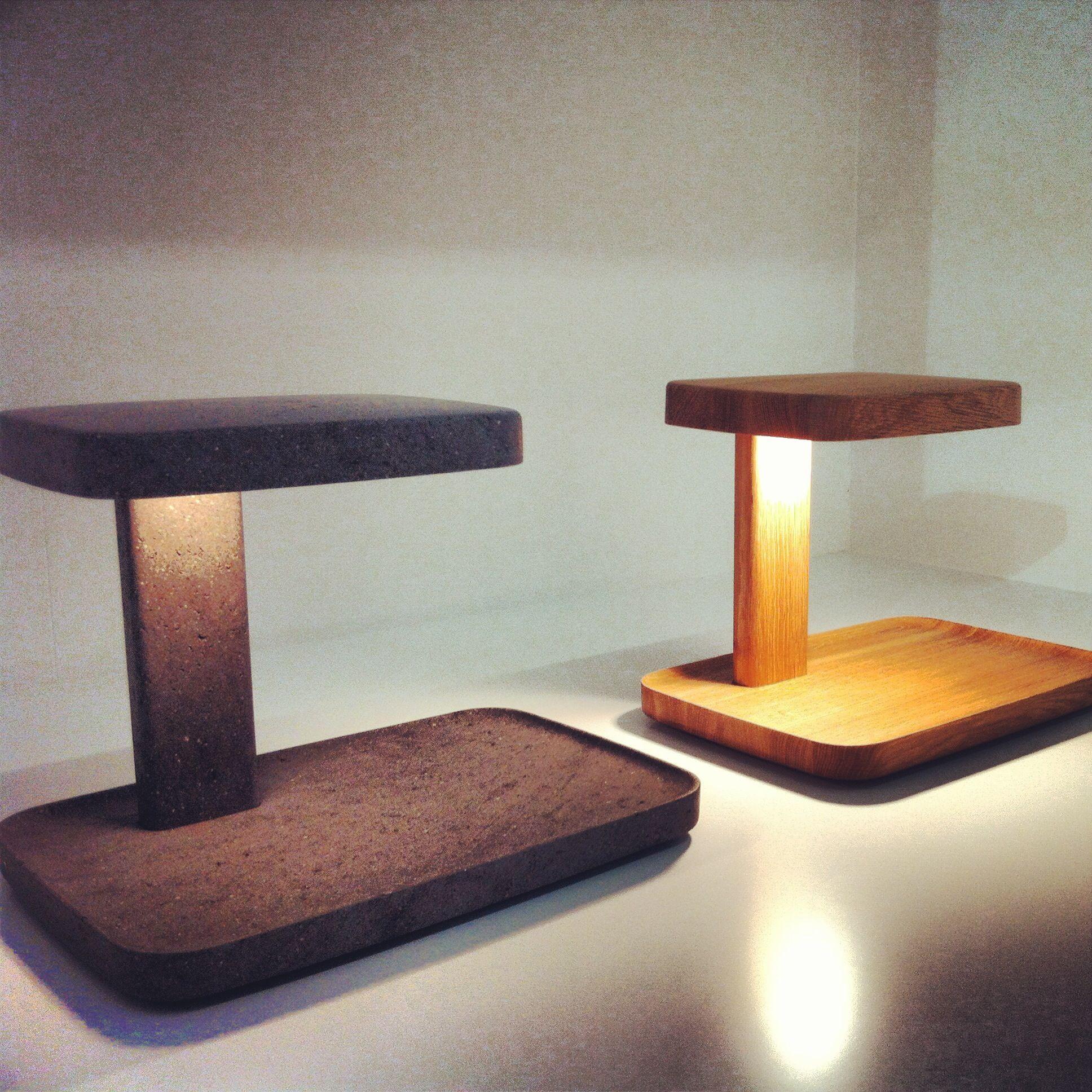 Flos Piani Big Table Light In Concrete And Wood Ahsap Isleri