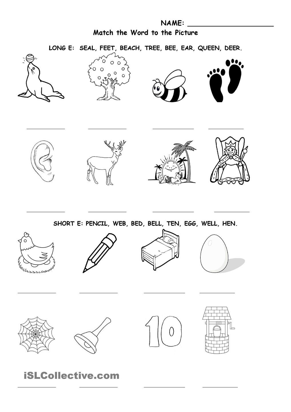 Long And Short E Writing Sight Words Vowel Worksheets Short E [ 1440 x 1018 Pixel ]