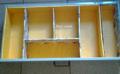 Organizador Para Gavetas Com Imagens Reciclando Caixa De