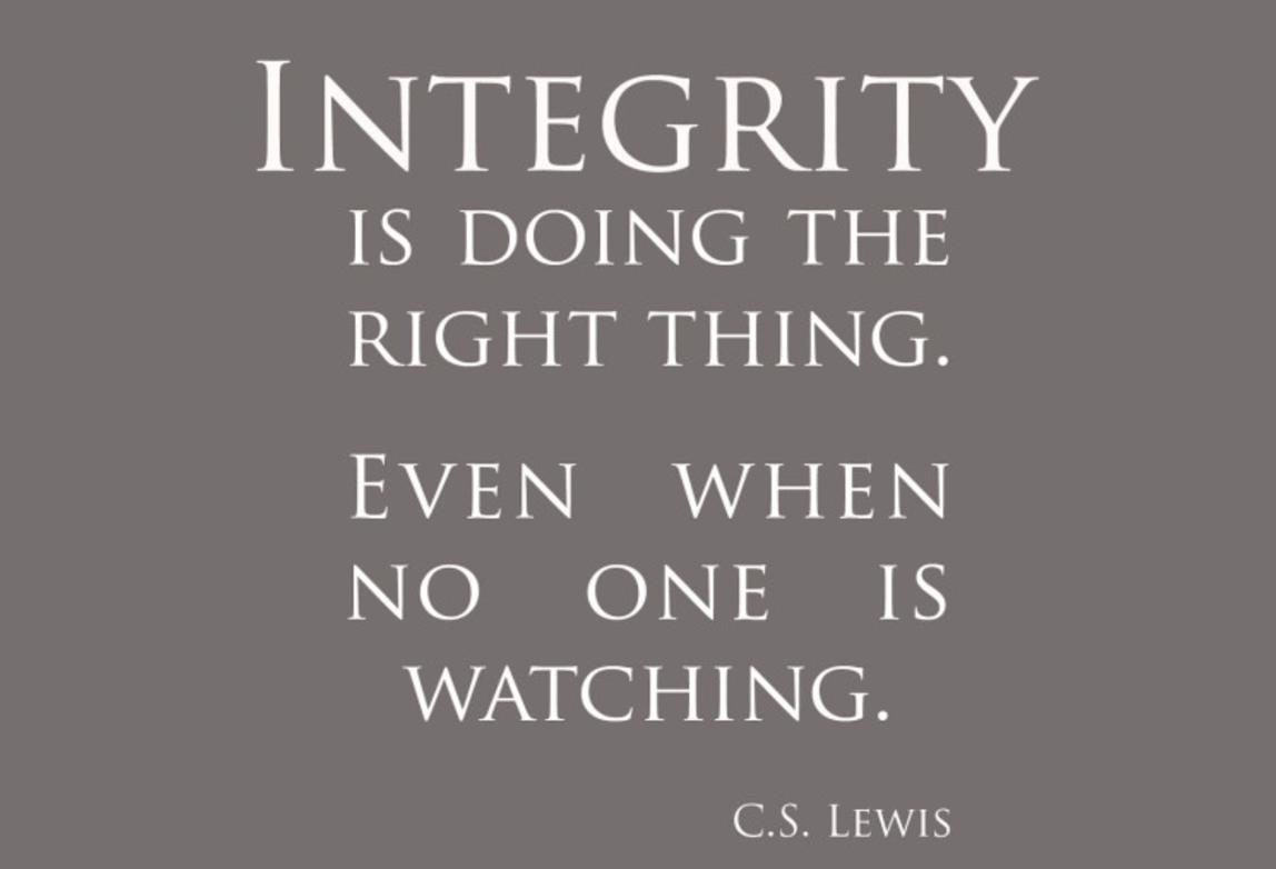 Integrity Is Doing The Right Thing Even When No One Is Watching  Integrity Is Doing The Right Thing Even When No One Is Watching Online Writing Journals also Cheap Article Writing  Synthesis Essays