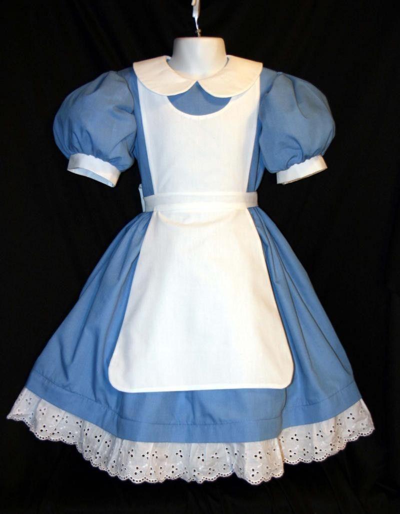 White pinafore apron costume - Disney Alice In Wonderland Costume New Pinafore Custom 109 99 Via Etsy