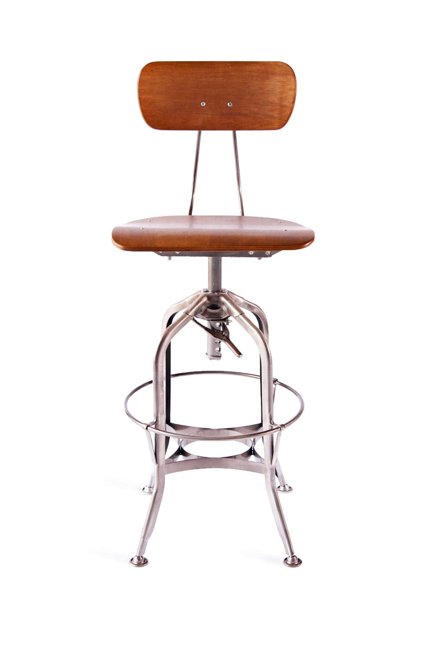 Toledo Bar Chair Gunmetal Industry West $225