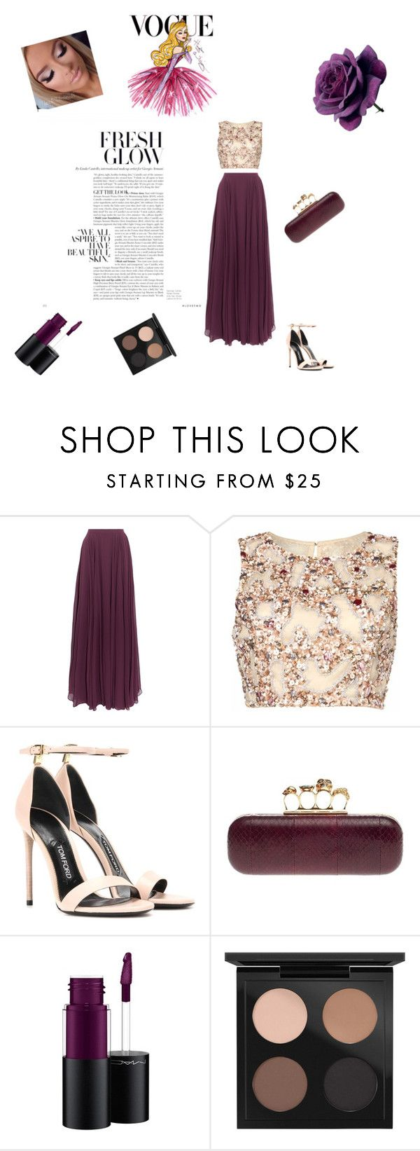 """""""✨"""" by samra-sisic on Polyvore featuring Halston Heritage, Raishma, Tom Ford, Alexander McQueen, MAC Cosmetics and Disney"""