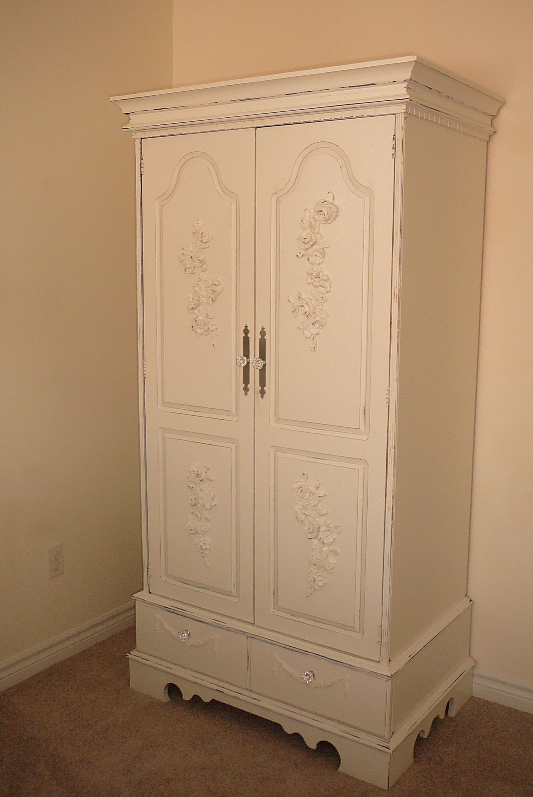 Mans Wardrobe Gets The FrenchShabbyEssentials Treatment. A New Lease For An Old  Armoire. FSE