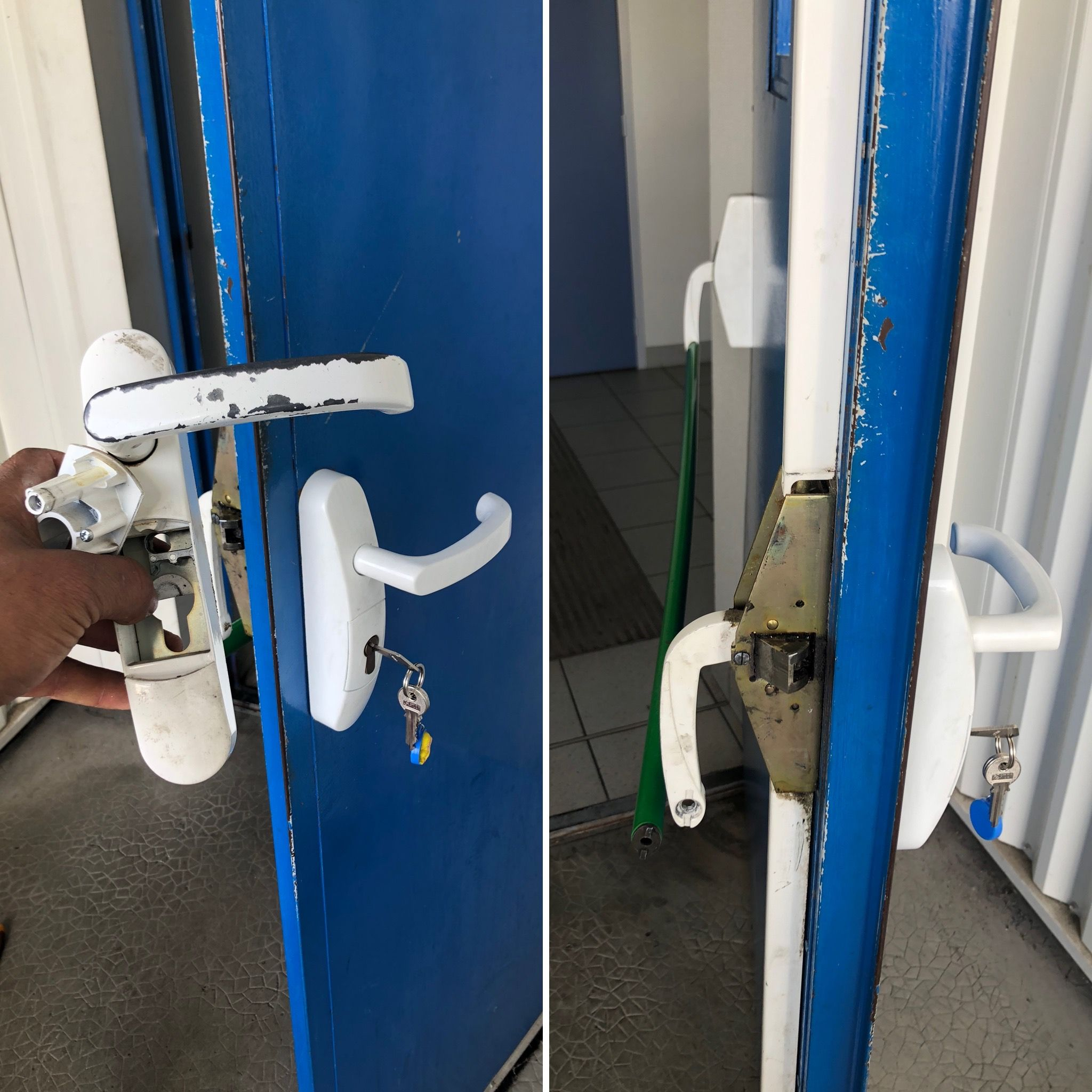 Changement Poignee Porte Anti Panique Poignee De Porte Porte De Secours Serrure Porte