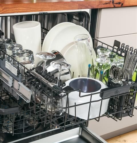 With Our Ge Profile Series Stainless Steel Interior Dishwasher You Can Adjust The Top Rack Two Inches U Best Dishwasher Stemware Holder Energy Star Appliances