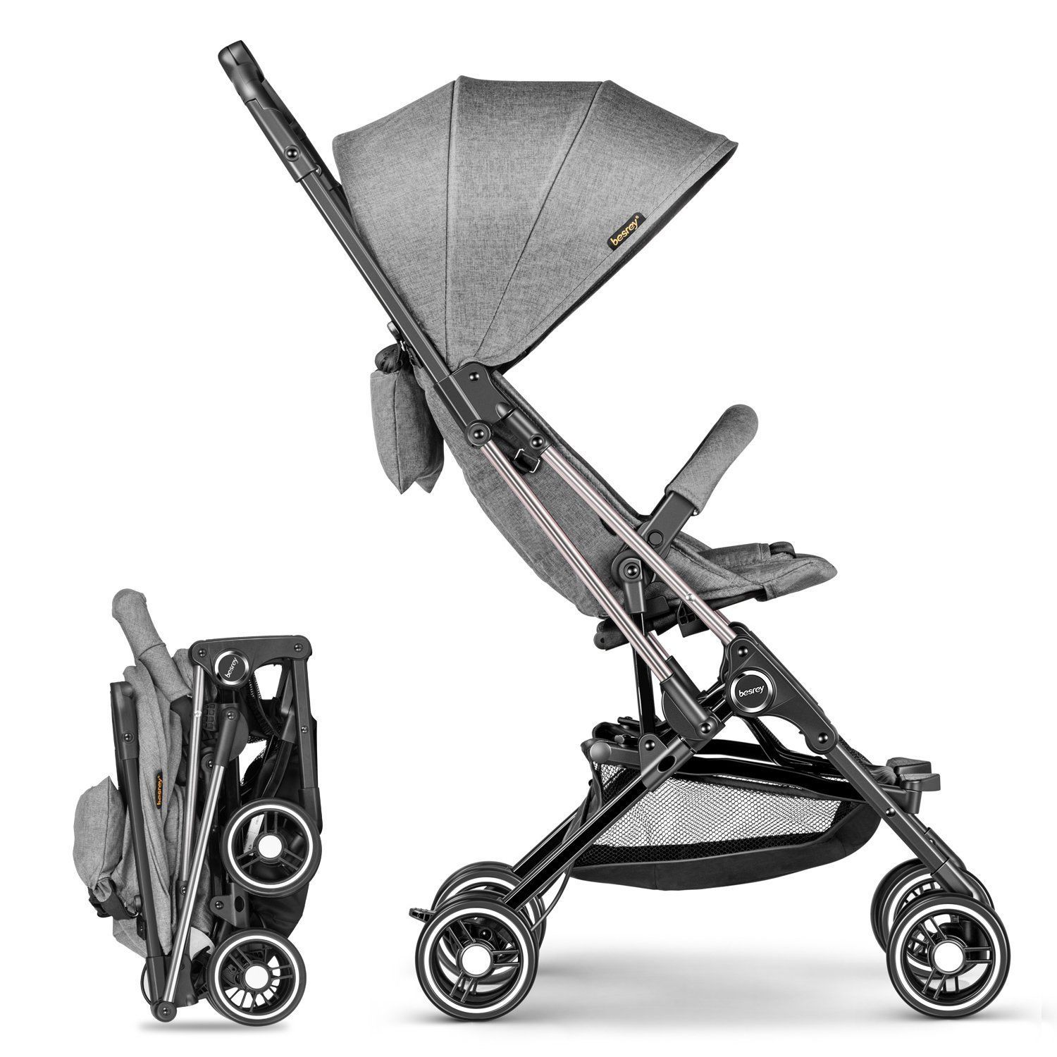 pressed Stroller Mini pushchair Capsule Pram Portable Travel Boarding