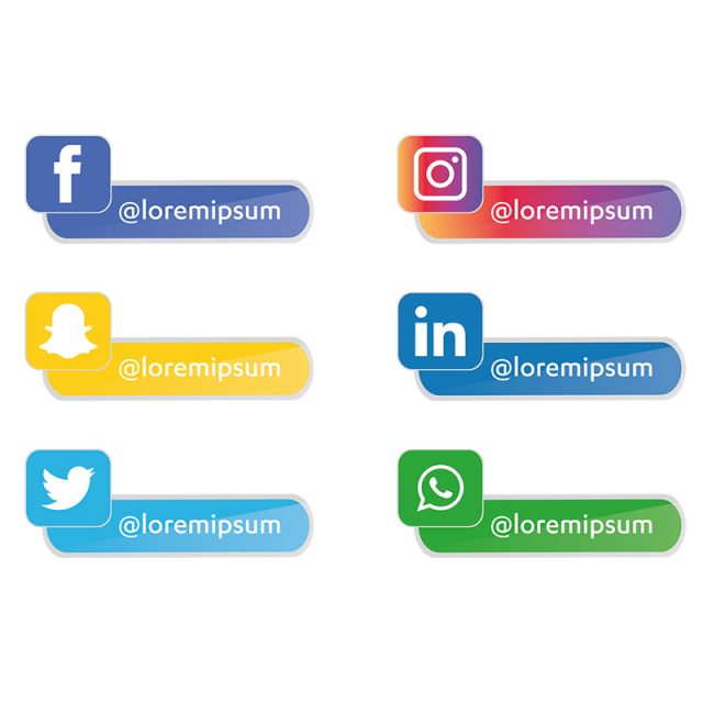 Social Media Icons Set Social Media Clipart Social Icons Media Icons Png And Vector With Transparent Background For Free Download Social Media Icons Media Icon Social Icons