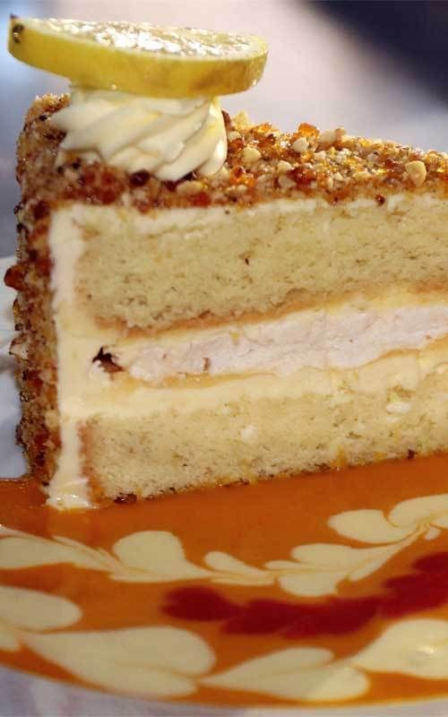 Lemon Praline Cake This tart and crunchy Lemon Praline Cake is a lemon lover's fix! Lemon butterc