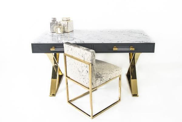 Cape Town Desk With Marble Top With Images Marble Desk Marble Top Desk Modern Furniture Stores