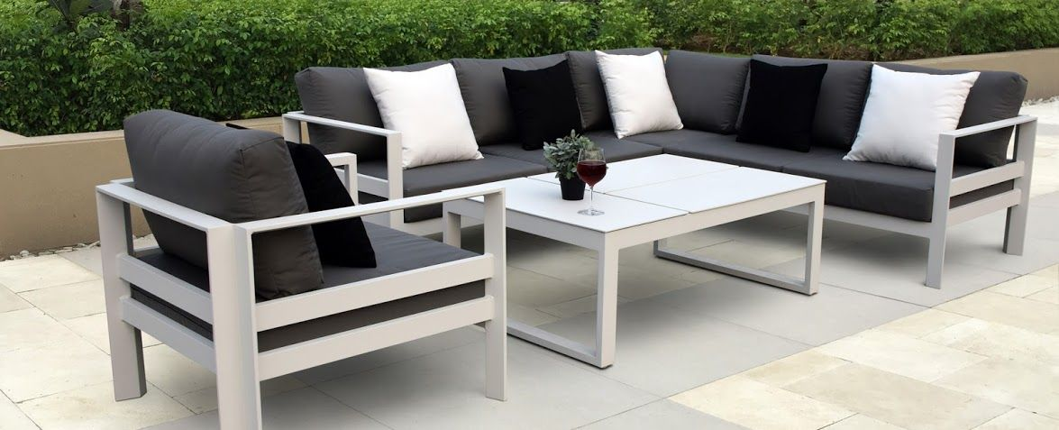 Sofa Back Wall Design, The Furniture Has To Be In Sync With The Layout Of The Patio Obviously The Furnit Aluminium Outdoor Furniture White Outdoor Furniture Outdoor Furniture Design