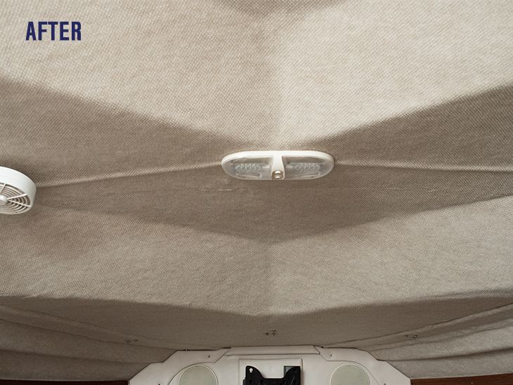Learn How To Install Carpet Style Headliner In A Curvy Boat Cabin. Video  Included!