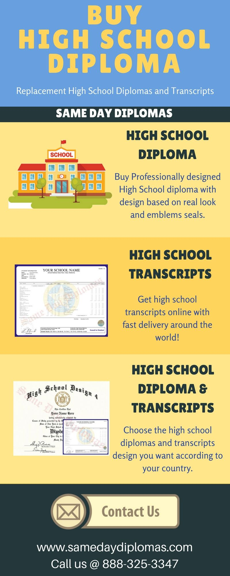 Buy replacement #high #school #diploma and #transcripts online with fast  delivery around