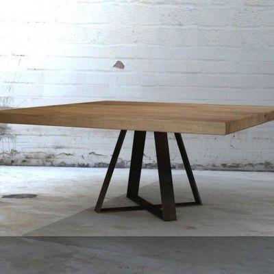 Afbeeldingsresultaat voor vierkante tafel eettafel vierkant for Vierkante tafel