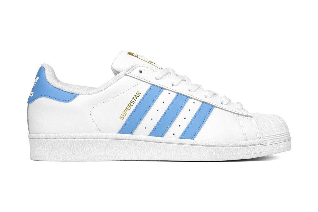 Adidas Originals Superstar - White/Light Blue