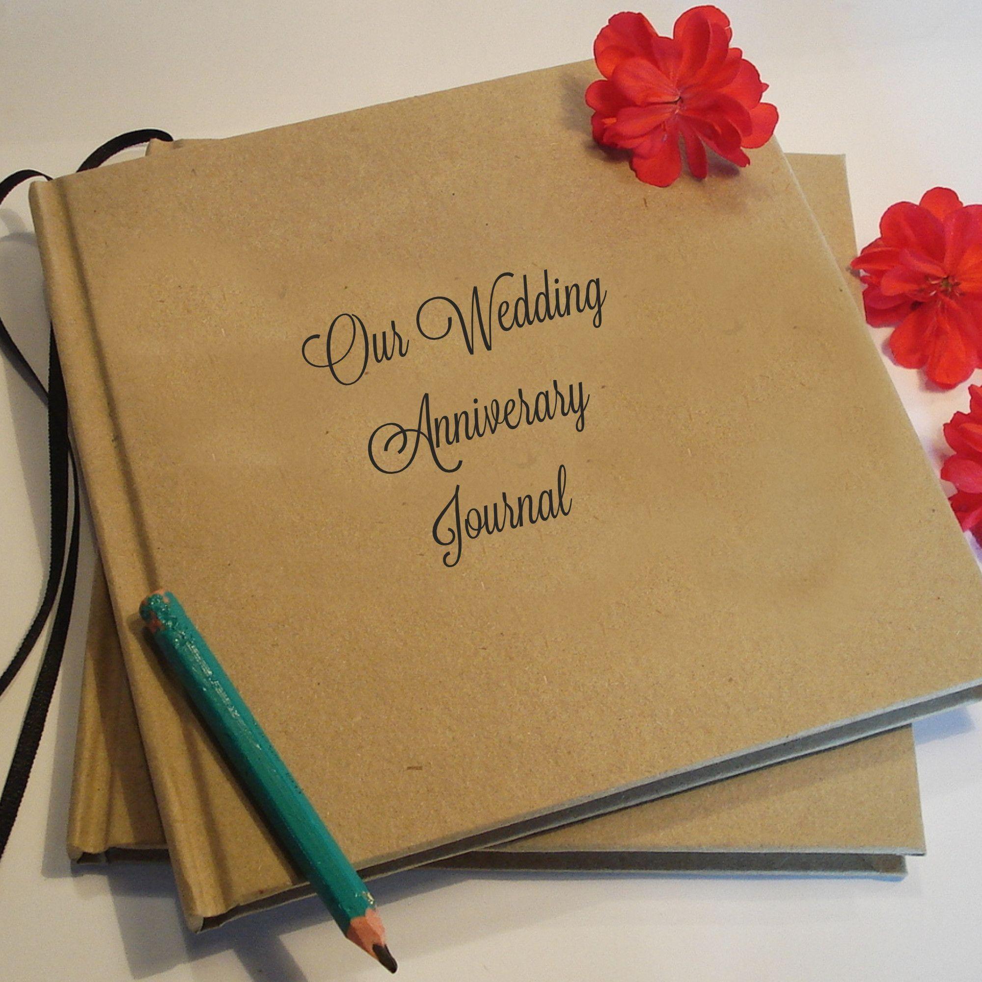 CUSTOM Wedding Anniversary Journal Gift · DIY Paper