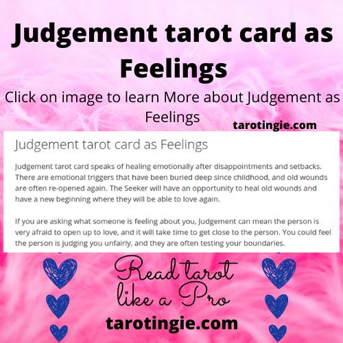 Judgement Tarot Card As Feelings Judgement Tarot Card Tarot Tarot Meanings