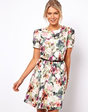 Enlarge Oasis Photographic Floral Print Dress / Flower / Style / Fashion / Dress / Summer