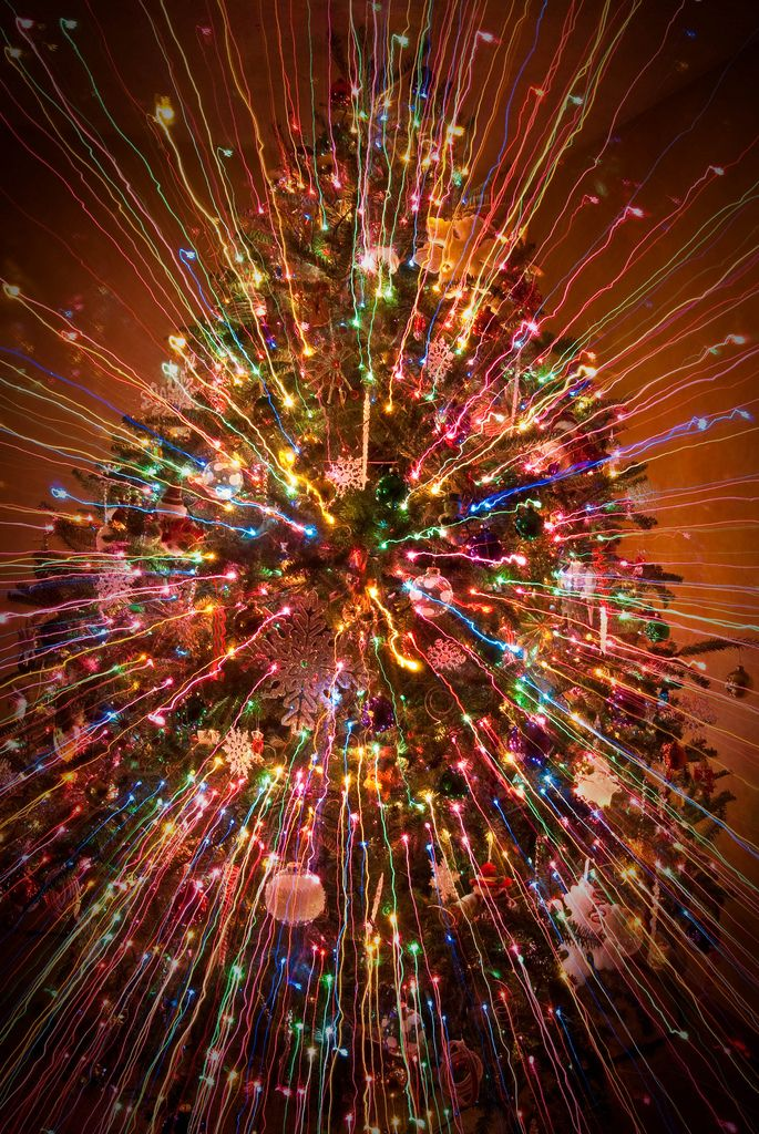 Christmas Tree Explosion Day 9 Of 365 Explored Christmas Photography Fractal Art Shutter Speed