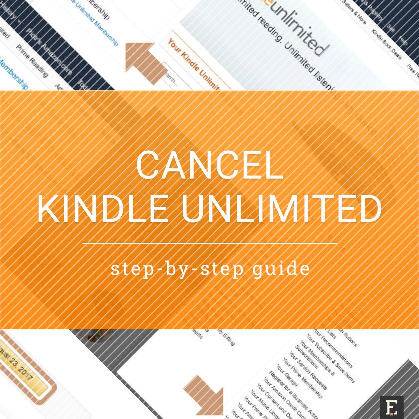 how to cancel kindle unlimited canada