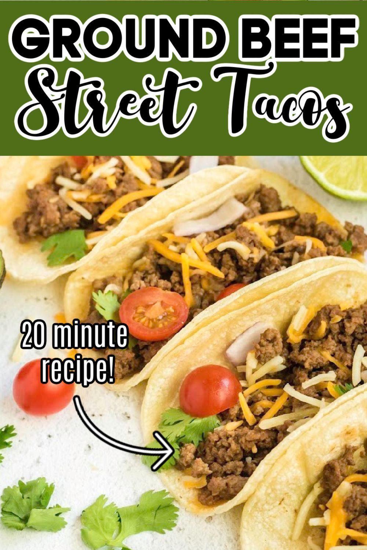 Ground Beef Street Tacos Pinkwhen Recipe In 2020 Ground Beef Recipes Kitchen Recipes