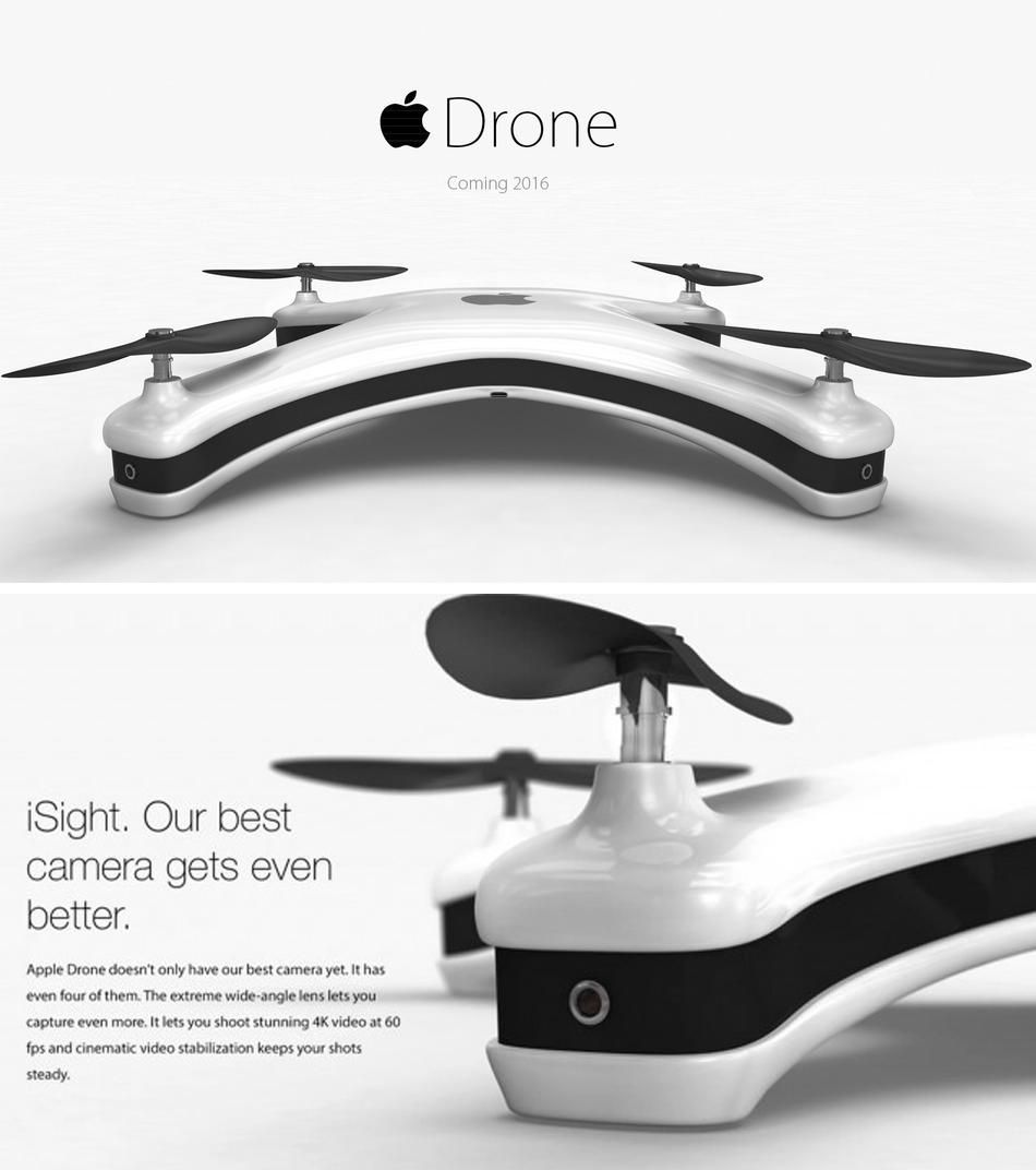 German designer Eric Huisman mocked up a sleek drone concept called the Apple Quadcopter,…