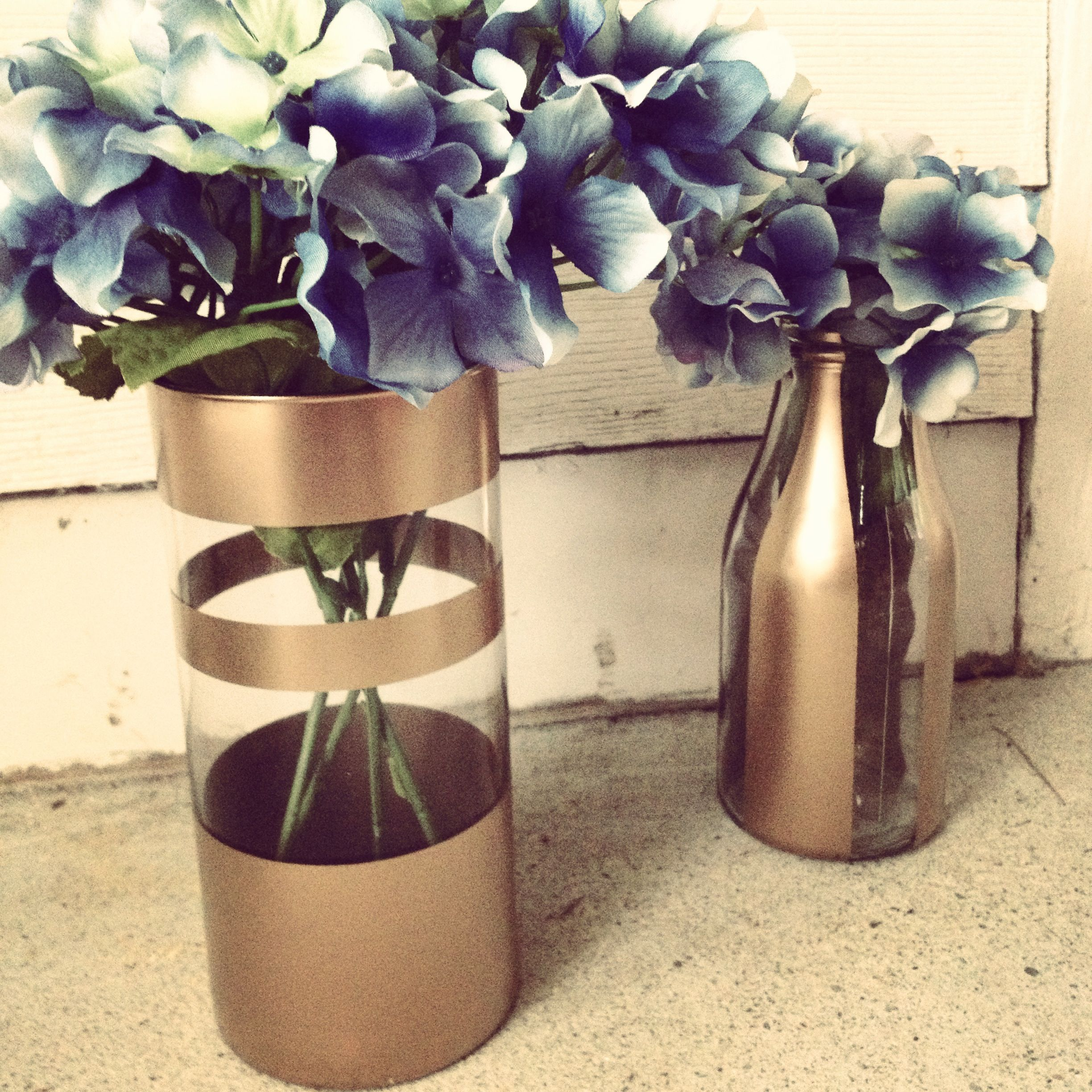 Diy gold spray painted vases with fake flowers my design diy gold spray painted vases with fake flowers floridaeventfo Images