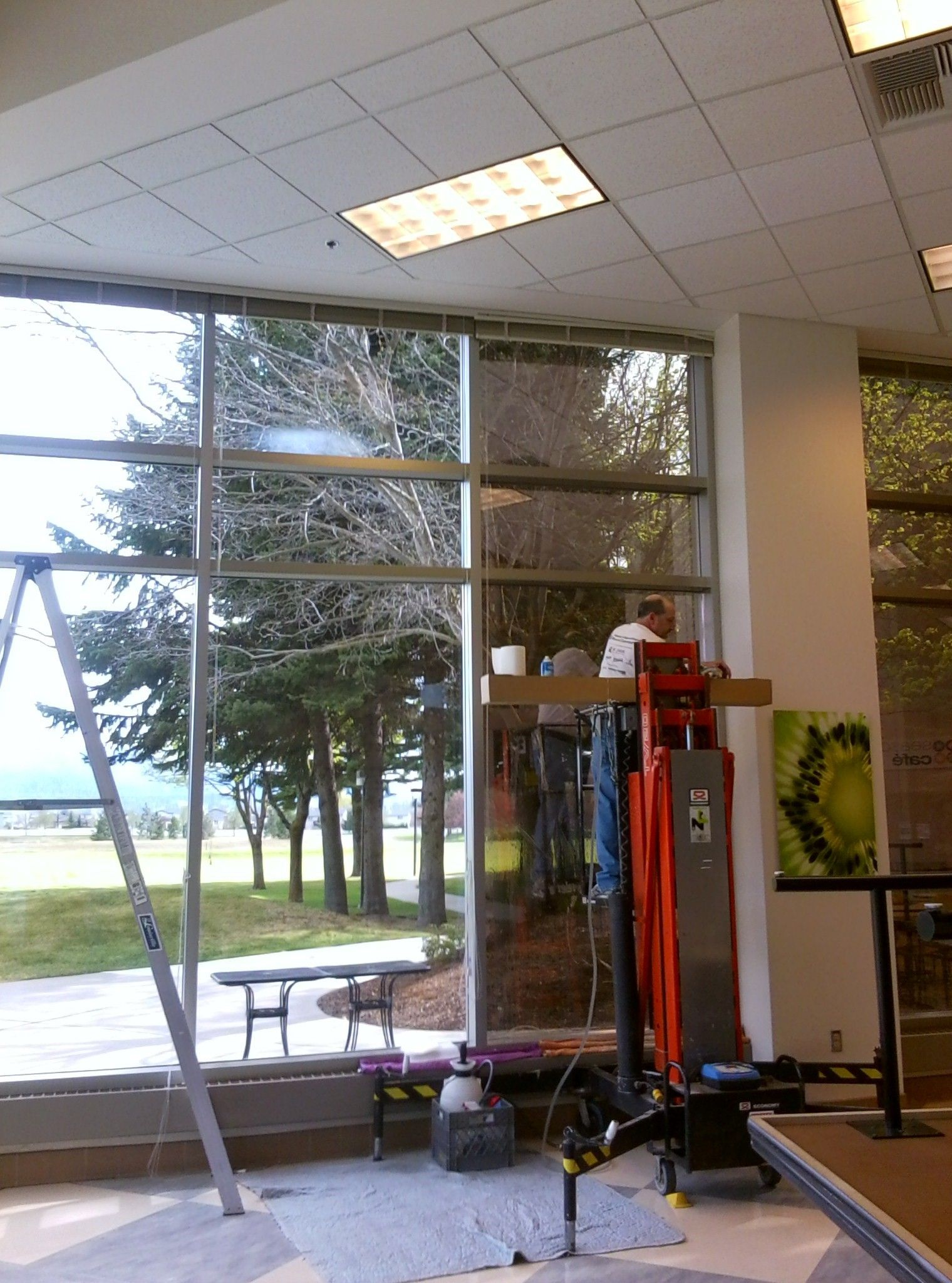 Nigeria house window design  window tint on the right  clear glass on the left  therma shield