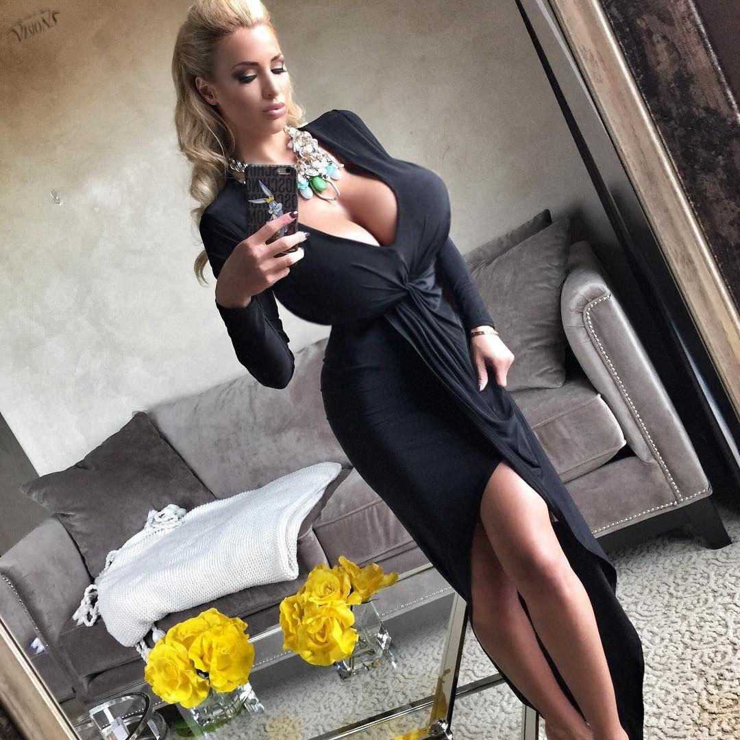 Horny bitch naked titties