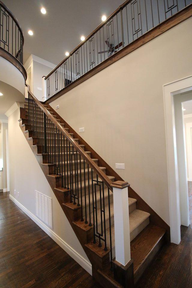 Stairwell. Benjamin Moore Collingwood Walls and Benjamin ...