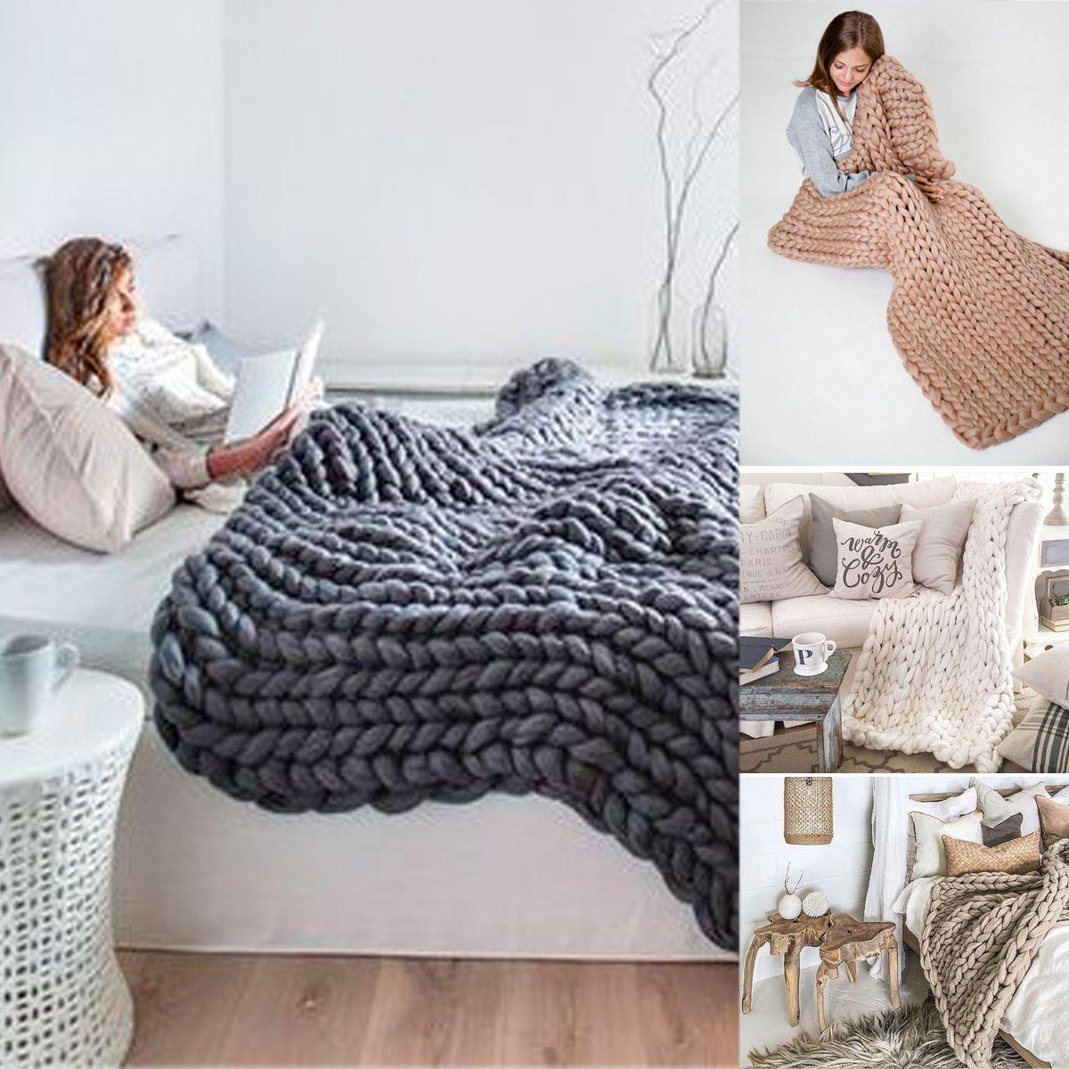 Home Blanket, Knitted blankets, Soft blankets