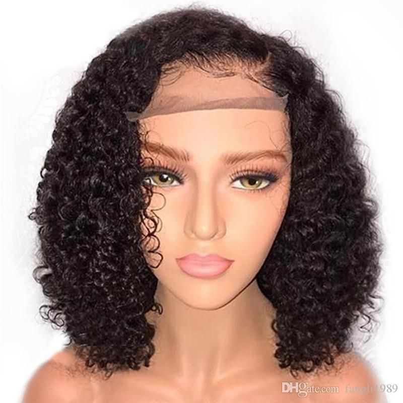793de7242 Curly 360 Lace Frontal Wig Pre Plucked With Baby Hair Brazilian Remy 180% Density  Lace Front Human Hair Wigs Natural Lace Front Wigs A Wig From Fangli1989,  ...