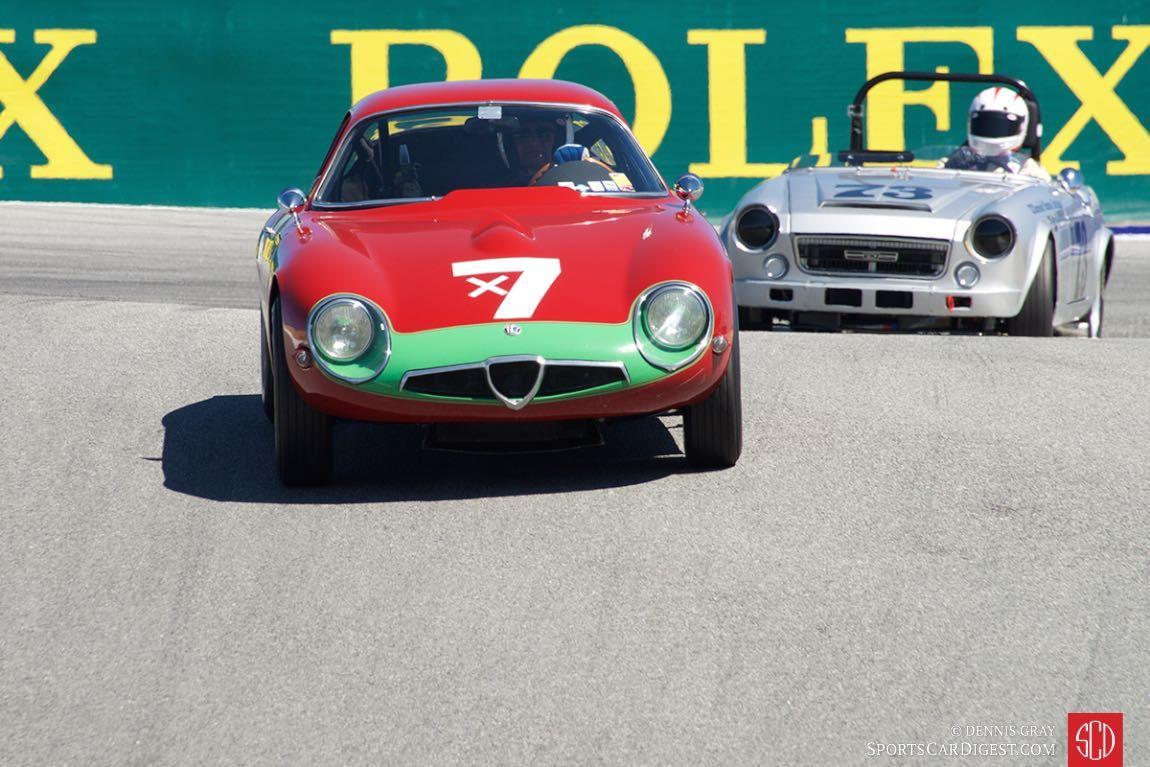 Marnix Dillenius in his 1964 Alfa Romeo TZ.