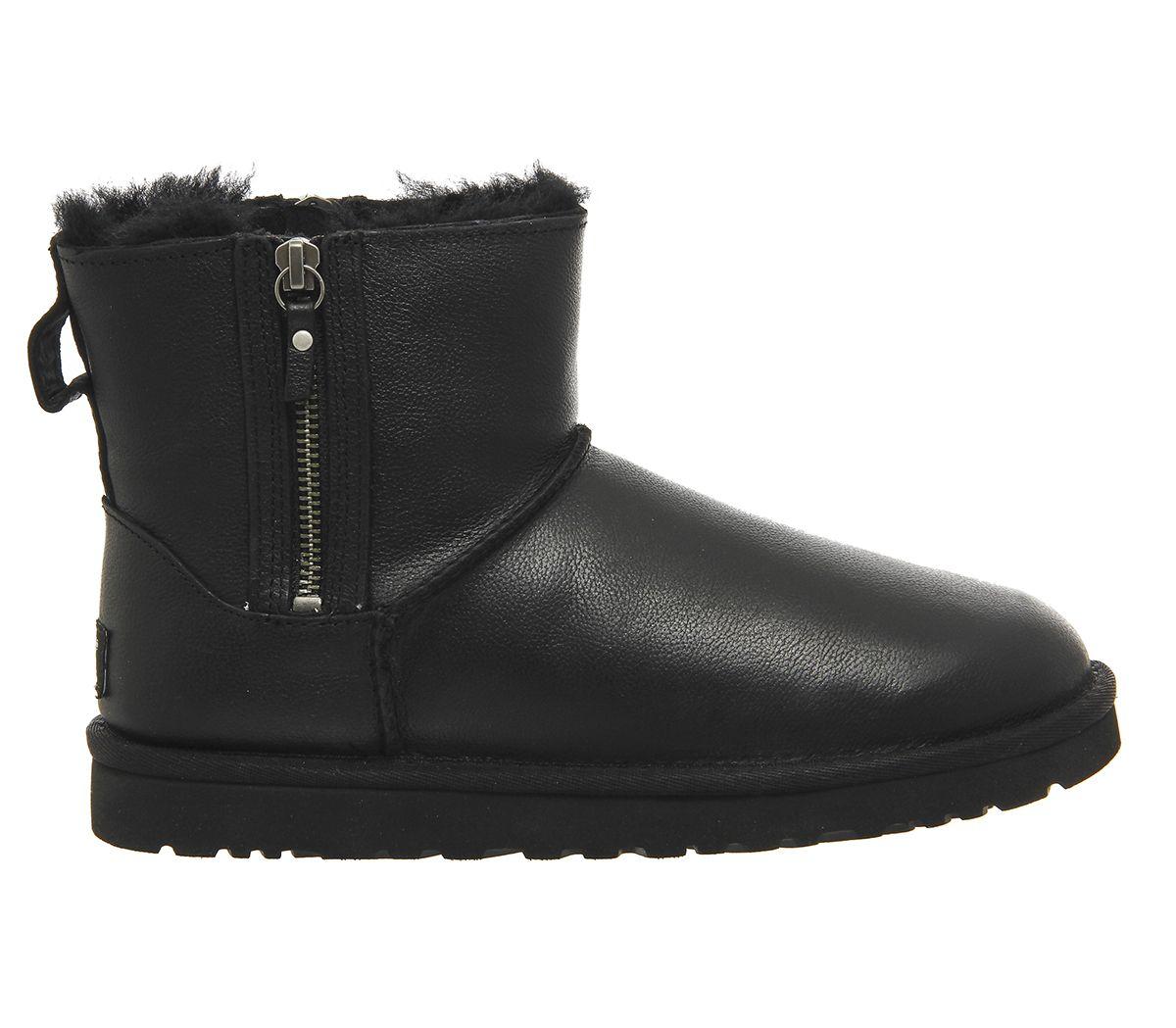 be41f527028 Classic Mini Double Zip | Shopping | Ugg classic mini, Black leather ...