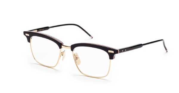 d5d0bf9a3360 Buy THOM BROWNE EYEGLASSES TB 711 A BLACK plastic 52mm SQUARE-FRAME  Shop  fashion brands Prescription Eyewear at SEATTLE SUNGLASS COMPANY ✓ FREE  DELIVERY ...