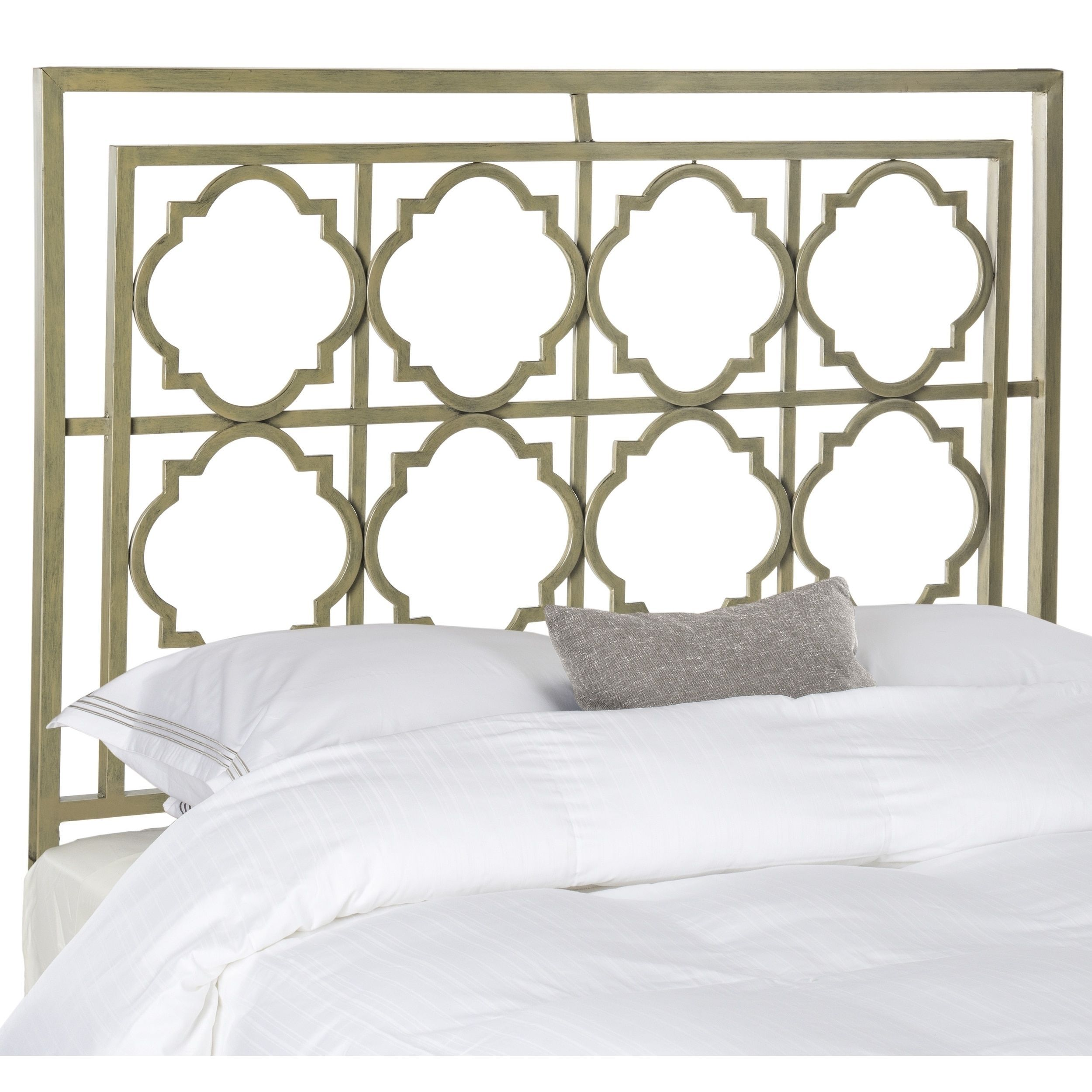 Safavieh Silva Metal French Silver Headboard (Queen) (FOX6216A-Q)
