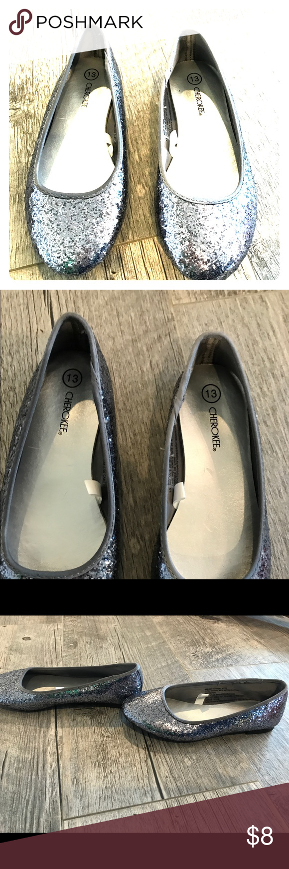 Silver Girl Shoes size 13 | Girls shoes