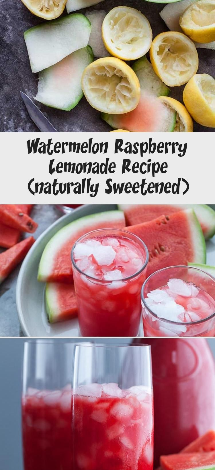 Watermelon Raspberry Lemonade Recipe (naturally Sweetened) #raspberrylemonade