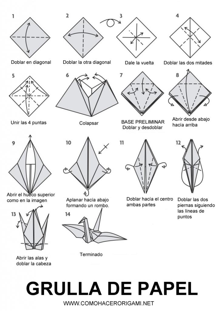Resultado de imagen de grulla de papel