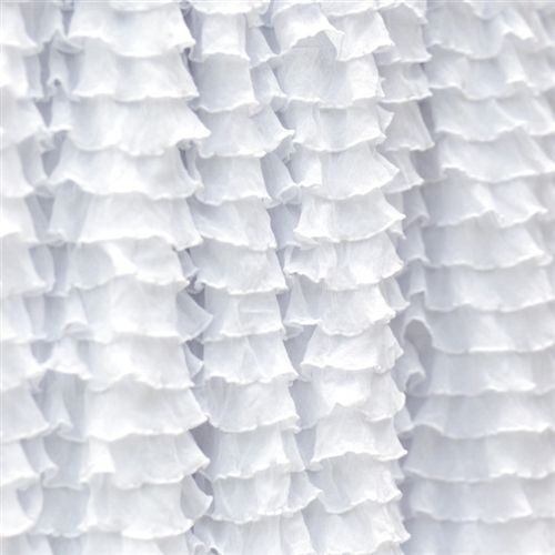Frilly Perfect White Ruffle Fabric Double Stretch Ruffle Fabric