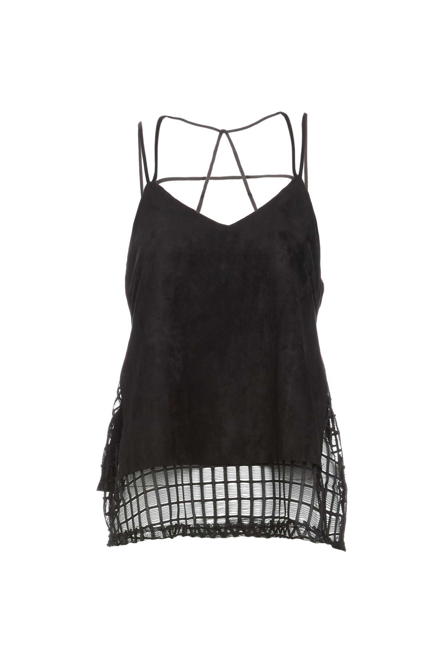 Grid Mesh Layered Cami Top  l DAILYLOOK Elite - personal styling service delivered right to your door