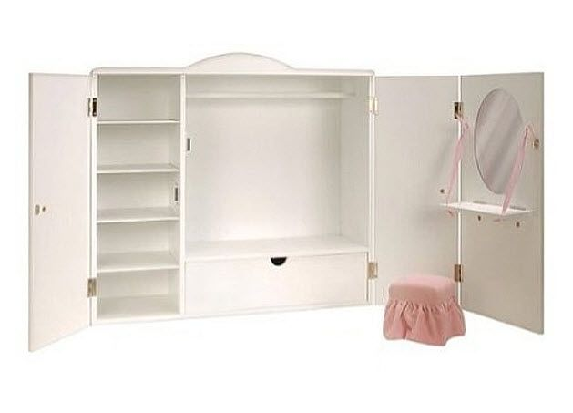 Doll Clothes Storage Findabuy Doll Storage Wooden Wardrobe Doll Furniture