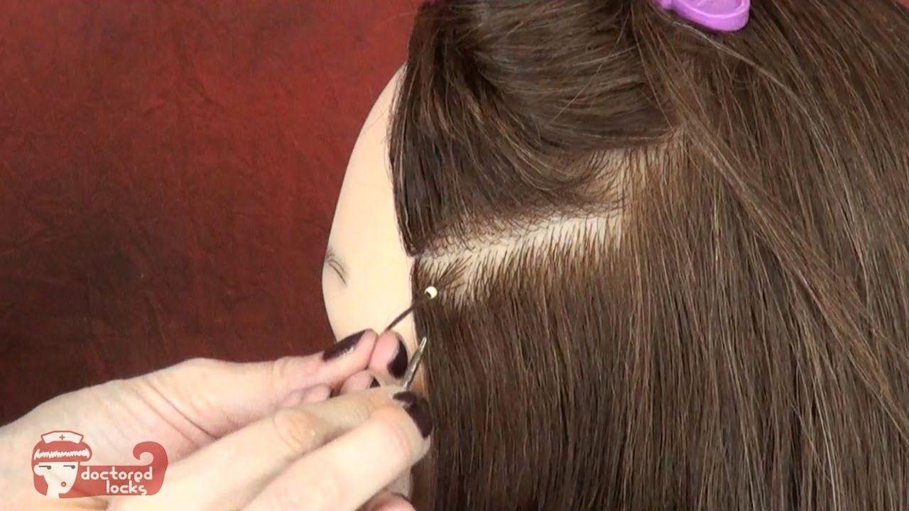How Install Nano Tip Hair Extensions Using Nano Beads