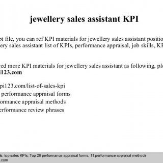Jewellery Sales Assistant Kpi In This Ppt File You Can Ref Kpi