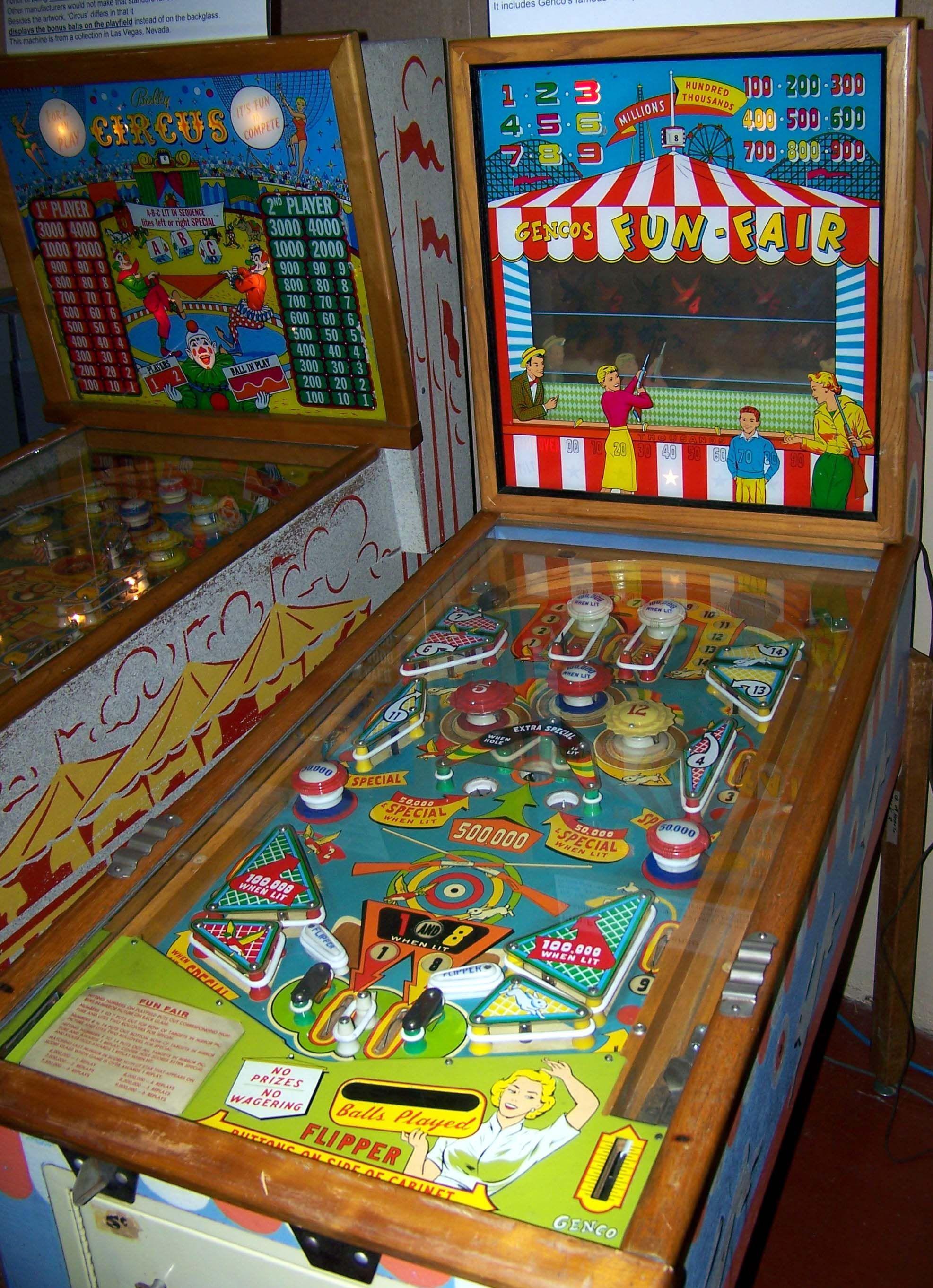 Image result for Genco 1958 Fun Fair Pinball Machine | Pinball ...