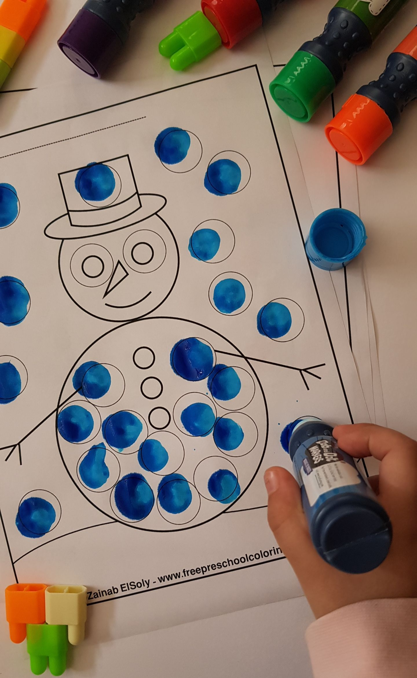 Happy New Year Winter Dot Marker Free Printables Preschool