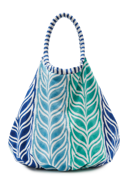 Roberta Roller Rabbit S Nika Block Print Bondi Beach Bag Borrows Its Simple Geometric Pattern From A Tree Native To Both India And Sri Lanka