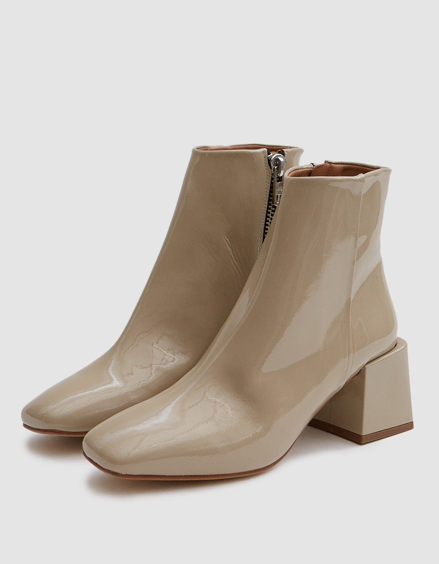 Loq Lazaro Boot In Forcal Patent Boots Loq Ankle Boot